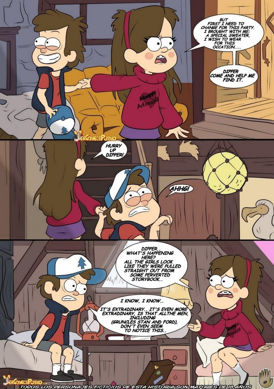 dipper and mabel Beauty and the beast hentai gif